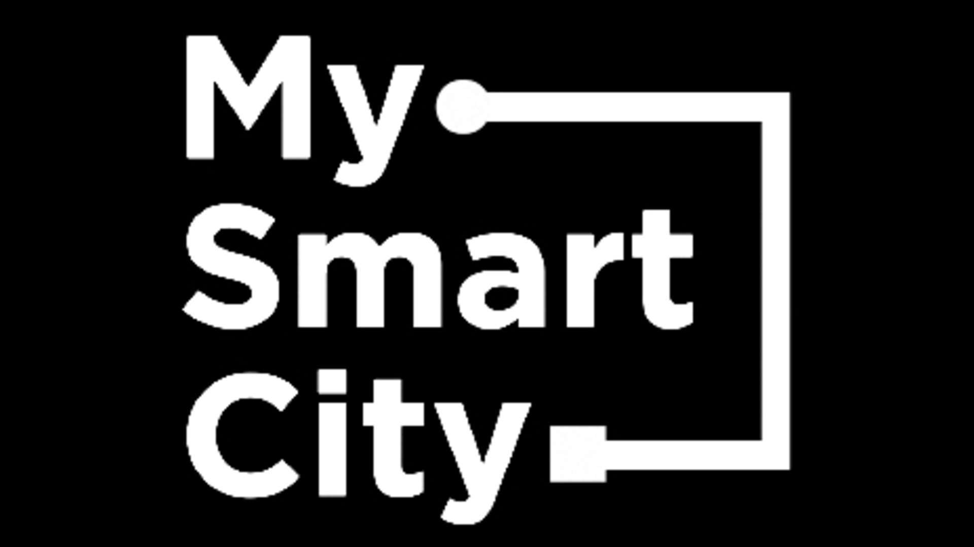 My Smart City Logo  Bw
